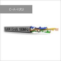 C5-U/U-24/1H - кабель витая пара, BASIC Solution, 5е категория, монтажный, U/UTP, 4 пары, 100 Мгц