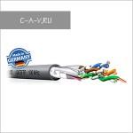C5F/U - кабель витая пара, 5 категория, F/UTP (с общим экраном фольга), 4 пары, 100 Мгц