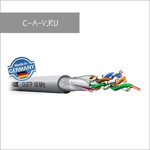 C5SF/U - кабель витая пара, 5 категория, SF/UTP (двойной общий экран: плетеный + фольга), 4 пары, 100 Мгц