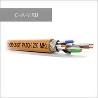 C6-S/F-26/7FRPVC - кабель витая пара, GIGA Solution, 6 категория, эластичный патч, S/FTP, 4 пары, 250 Мгц