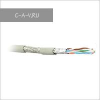 C6-SFTP4205-H-GY - кабель витая пара, 6a категория, SFTP, 4 пары, 500 Мгц, негорючий