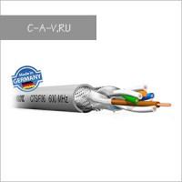 C7S/F06 - кабель витая пара, 7 категория, S/FTP (c общим экраном и экранировкой каждой пары), 600 MHz