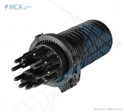 Муфта-кросс МКО-Г3/С09 2PLC8 18SC/APC сплиттерная полной комплектации