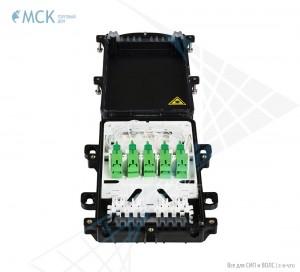 Муфта-кросс сплиттерная МКО-П1/С09 1PLC8 10SC/APC (полный комплект)