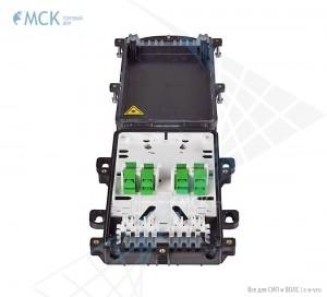 Тупиковая муфта МКО-П1/A 10SC (компл. с 8 SC/APC) | Муфты для оптического кабеля. Поставщик - ООО «Торговый Дом «МСК»