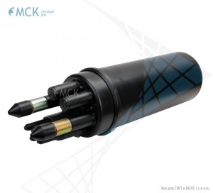 Тупиковая транзитная муфта МТОК-Б1/216 транзит (2 ввода №4) | Муфты для оптического кабеля. Поставщик - ООО «Торговый Дом «МСК»