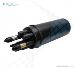 Тупиковая муфта МТОК-Б1/288 без транзита (2 ввода №4) | Муфты для оптического кабеля. Поставщик - ООО «Торговый Дом «МСК»