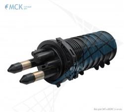 Тупиковая малогабаритная муфта МТОК-М6/144 (2 ввода №4) | Муфты для оптического кабеля. Поставщик - ООО «Торговый Дом «МСК»