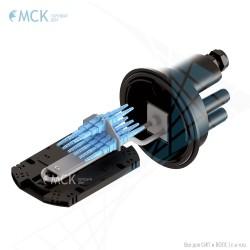 Кросс-муфта МВОТ-К-64-2-Т-2-64-SC-8 VolSip оптическая
