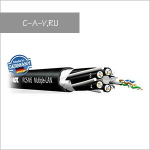 RC5-M5 - кабель мультикорный витая пара, 5е категория, S/UTP, 5х4 пары, 100 Мгц, повышенной надежности, эластичный