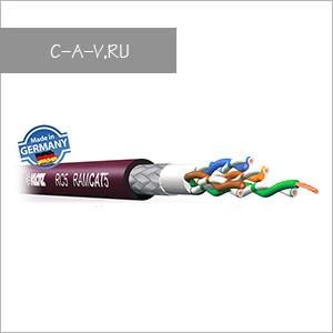 RC5 - патч-кабель витая пара, эластичный для работы внутри и вне помещений, 5е категория, S/UTP (с общим плетеным экраном), 4 пары, 100 Мгц