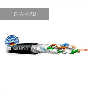 RC5SBSW - кабель витая пара  эластичный, для работы  внутри и вне помещений, 5е кат., SF/UTP, 4 пары, 200 Мгц